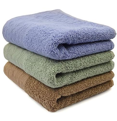 Cleanbear Bathroom Hand Towels - 100% 500 GSM Hand - Inches 3 Colors