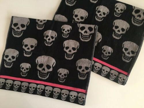 Betsy 2 Skulls Hand Towels