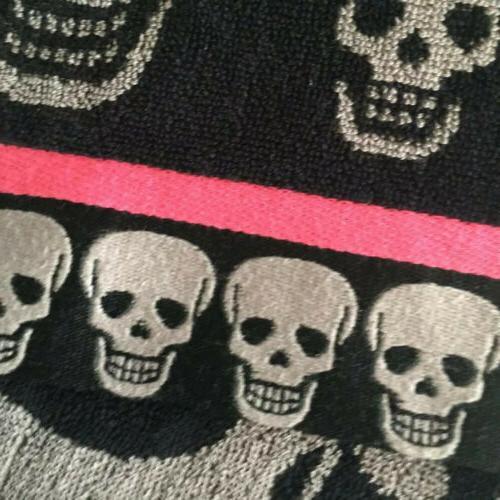 Betsy Skulls Blk/Pop Towels