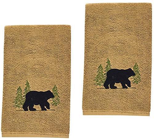 black bear cotton terry applique