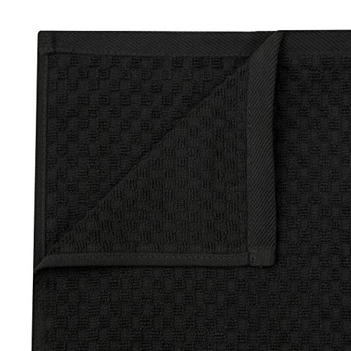 Cotton - Pack Waffle Terry Towels - -Black - 400 GSM Quality 100% 2 Cotton - Highly Absorbent -