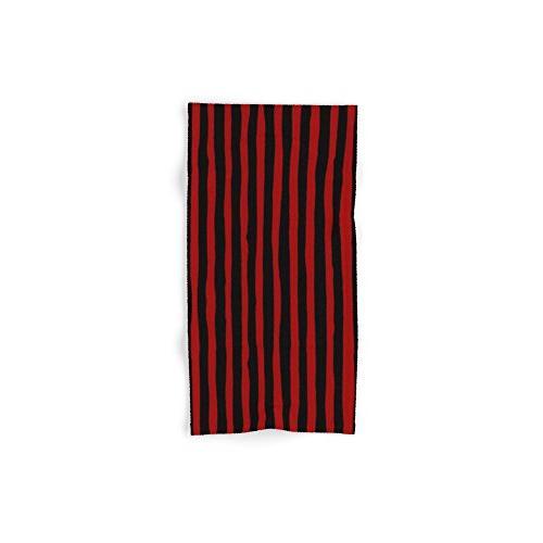 black red stripes hand towel