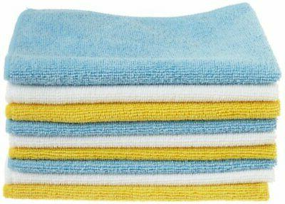 blue and yellow microfiber cleaning cloth 24