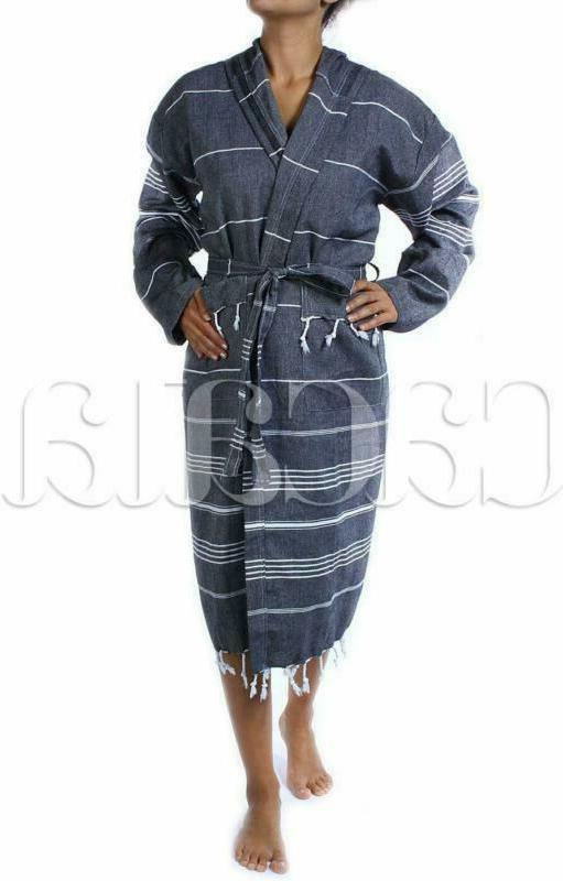 Cacala Pestemal Fabric Turkish Kimono Black