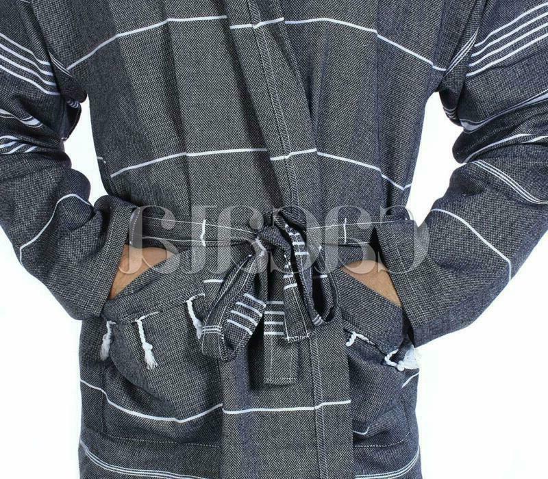 Cacala Fabric 100% Cotton Kimono Unisex Black