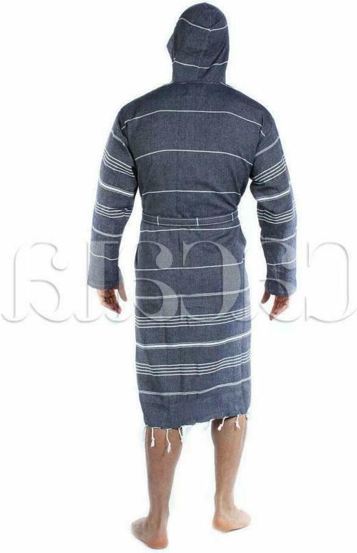 Cacala Bathrobe Fabric Kimono Black