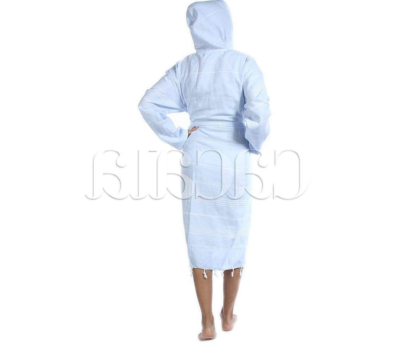 Cacala Hooded Fabric Turkish Kimono Unisex