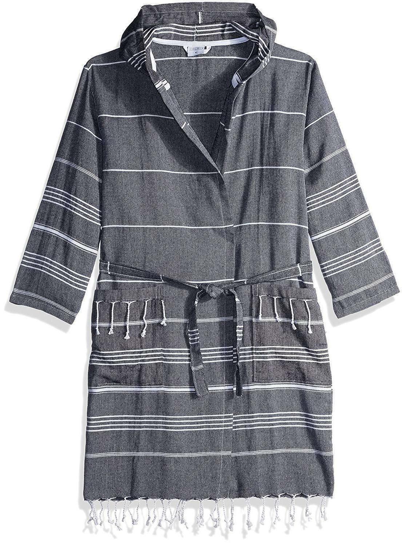 cacala hooded bathrobe pestemal fabric 100 percent
