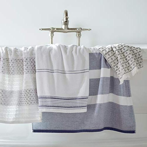 Stone Casual Sculpted Cross Cotton Towel of 3,