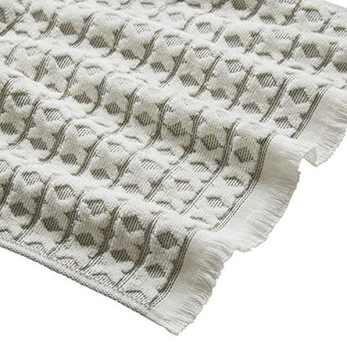 Stone & Sculpted Cross Towel Set, of 3, Charcoal