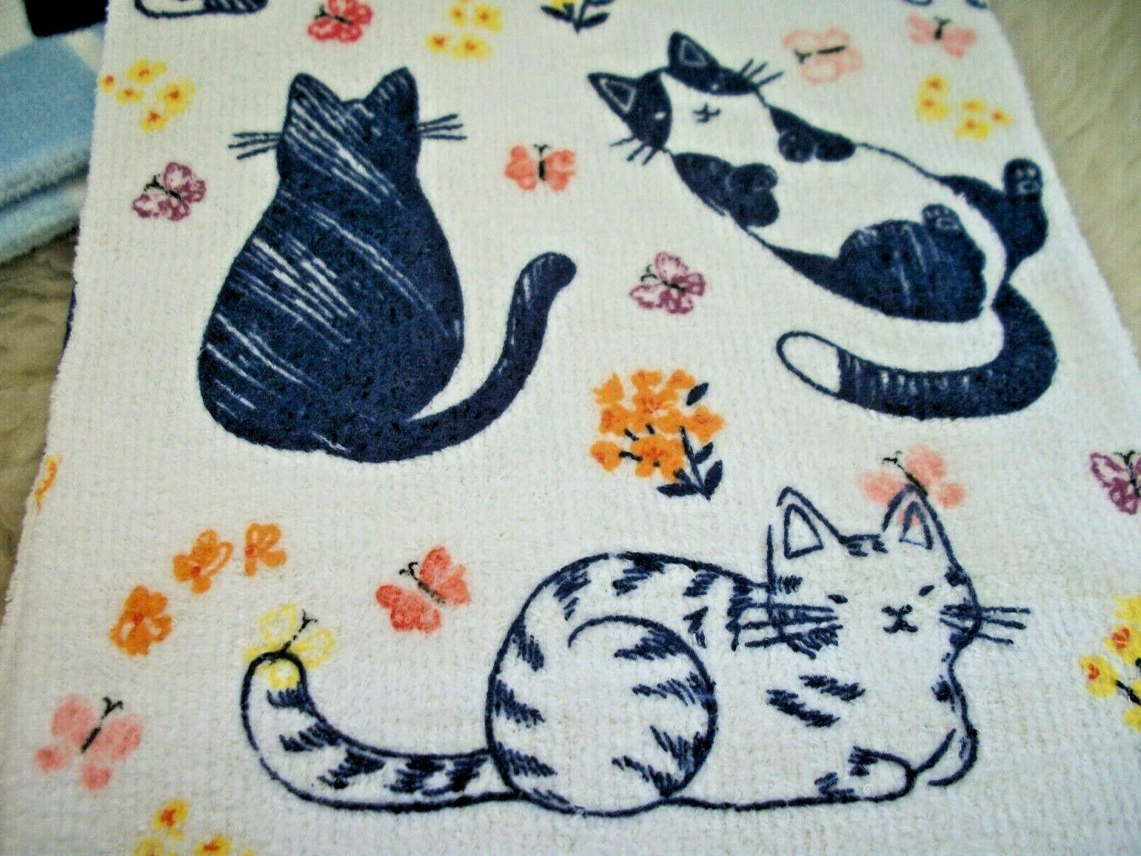 Cat Towels Hand of 2 Flowers