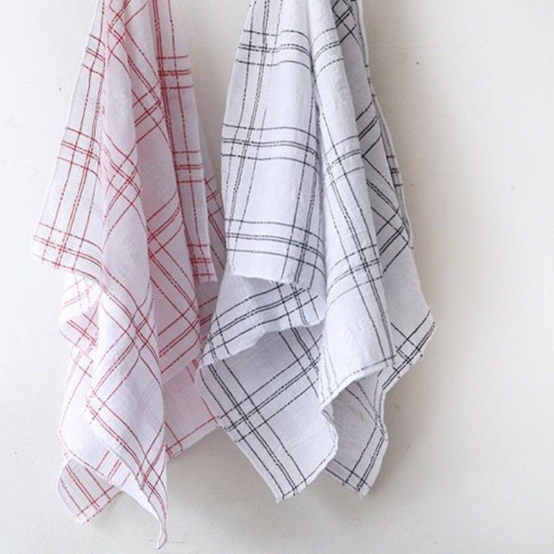 Checked Kitchen Cloth Dish Cloths Hand Towels Dish Cover Han