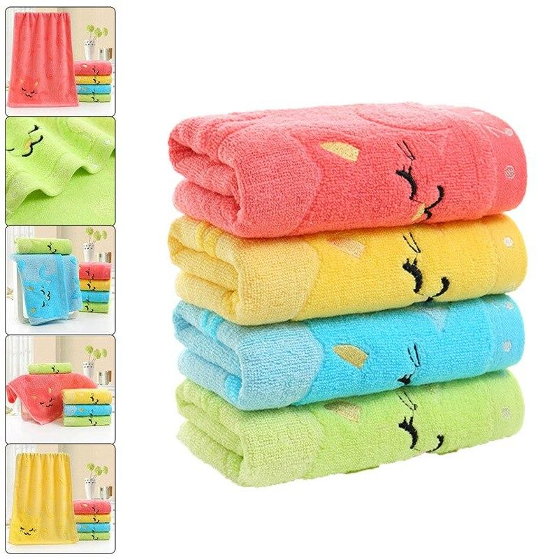 Children <font><b>Bathing</b></font> Cartoon <font><b>Towel</b></font> Note Wipe