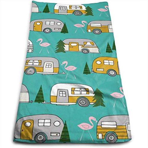christmas camper flamingo car tree wallpaper quick