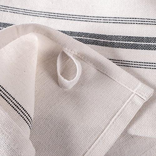 """KAF Stripe Set of 12, x 25"""", 100% Cotton Perfect Bar Towel Dish Cloths for Cooking, and Dining"""