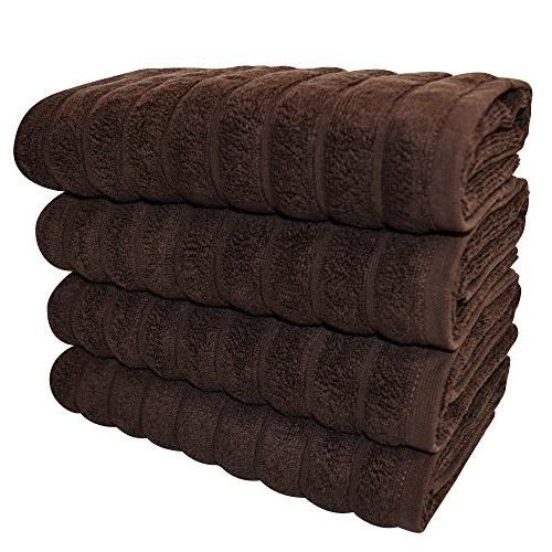 Classic 4 Piece Luxury Hand Set 20 32 Inch Thick Towels Made with Turkish Cotton