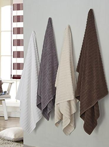 Classic Towels Piece Hand Set - 32 Inch and Thick Large Towels Turkish Cotton