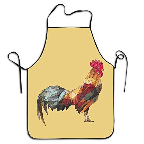 colorful rooster polygon standing adjustable