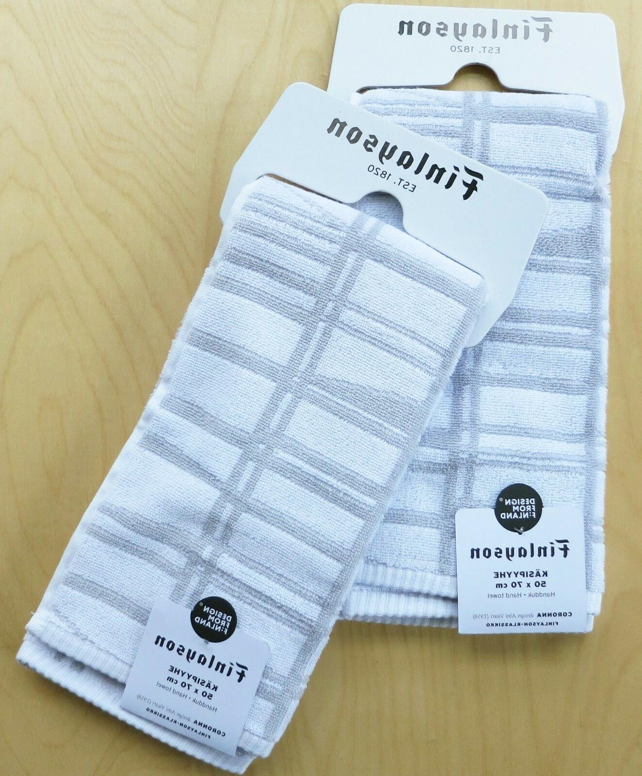 coronna white grey hand towels 2 from