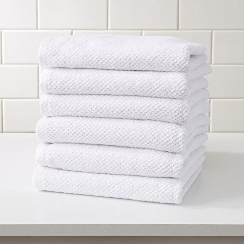 Great Bay 100% Popcorn Hand Towels. 6 Solid Acacia