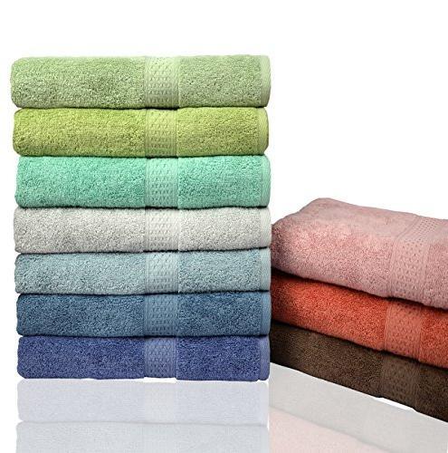 """Cleanbear Bath Pool Softness Bathroom Towel, 27.5""""x55"""", Cyan"""