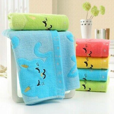 Cotton Bath Towels Face Towels Hand Hair Bath Baby Kids Towe