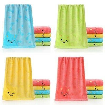 Cotton Bath Towels Face Towels Hand Hair Bath Baby Kids Towe