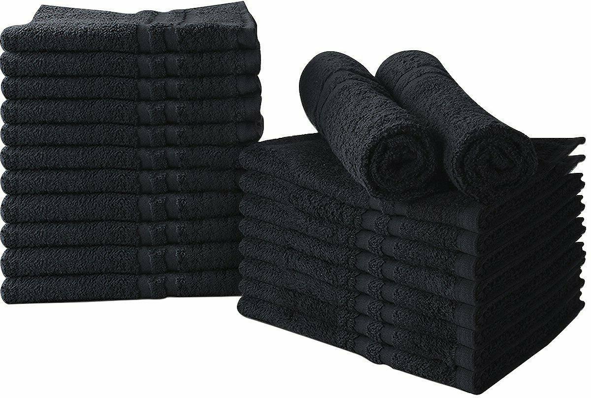 bleach proof salon towels in black 24