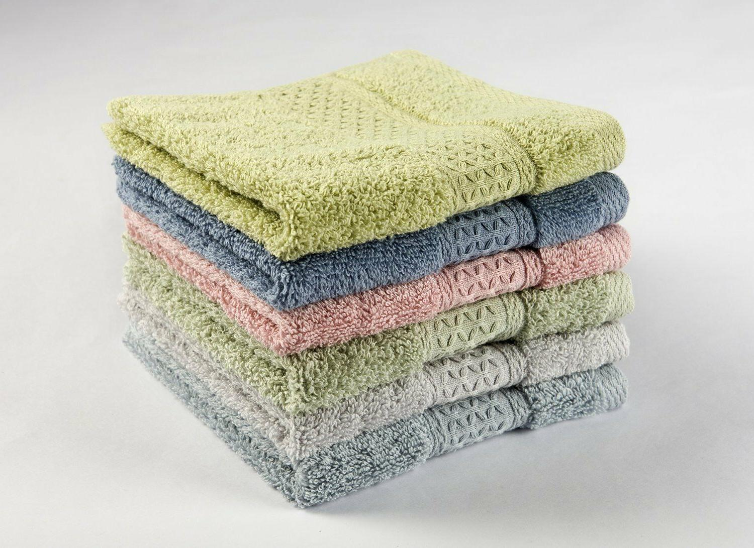 cotton hand towel washcloths sets for home