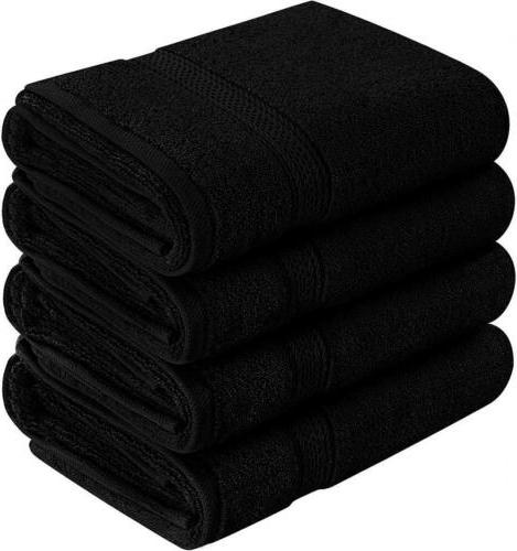 cotton large hand black 4 pack 16
