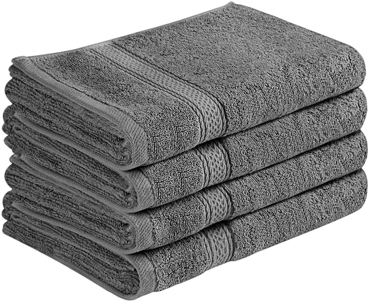 cotton large hand towel set 4 pack