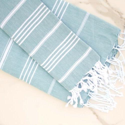 cotton turkish bath and hand towel set