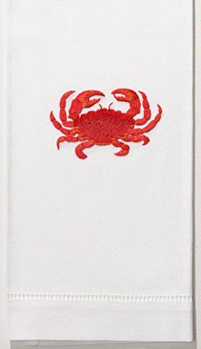 crab red hand towel