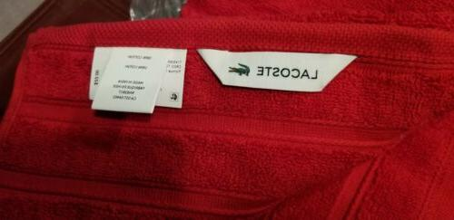 "Lacoste Signature Towels 30"" Formula 1 Of 100%"