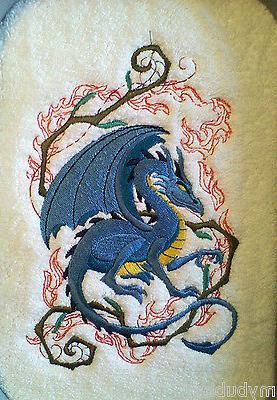 crouching dragon set of 2 hand towels