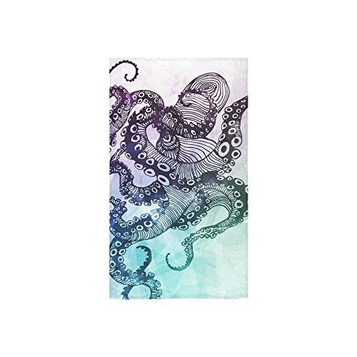 custom octopus colorful hand towel