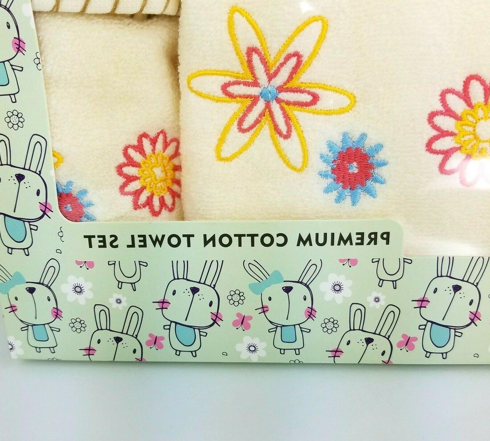 Cute Cotton For Baby Floral Towels Box