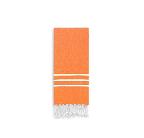 dark orange white stripe hand