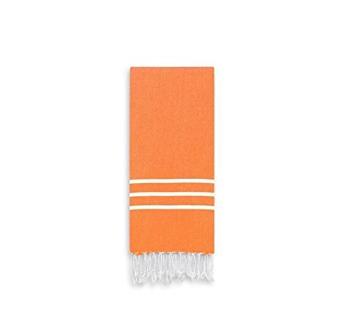 dark orange white stripe hand
