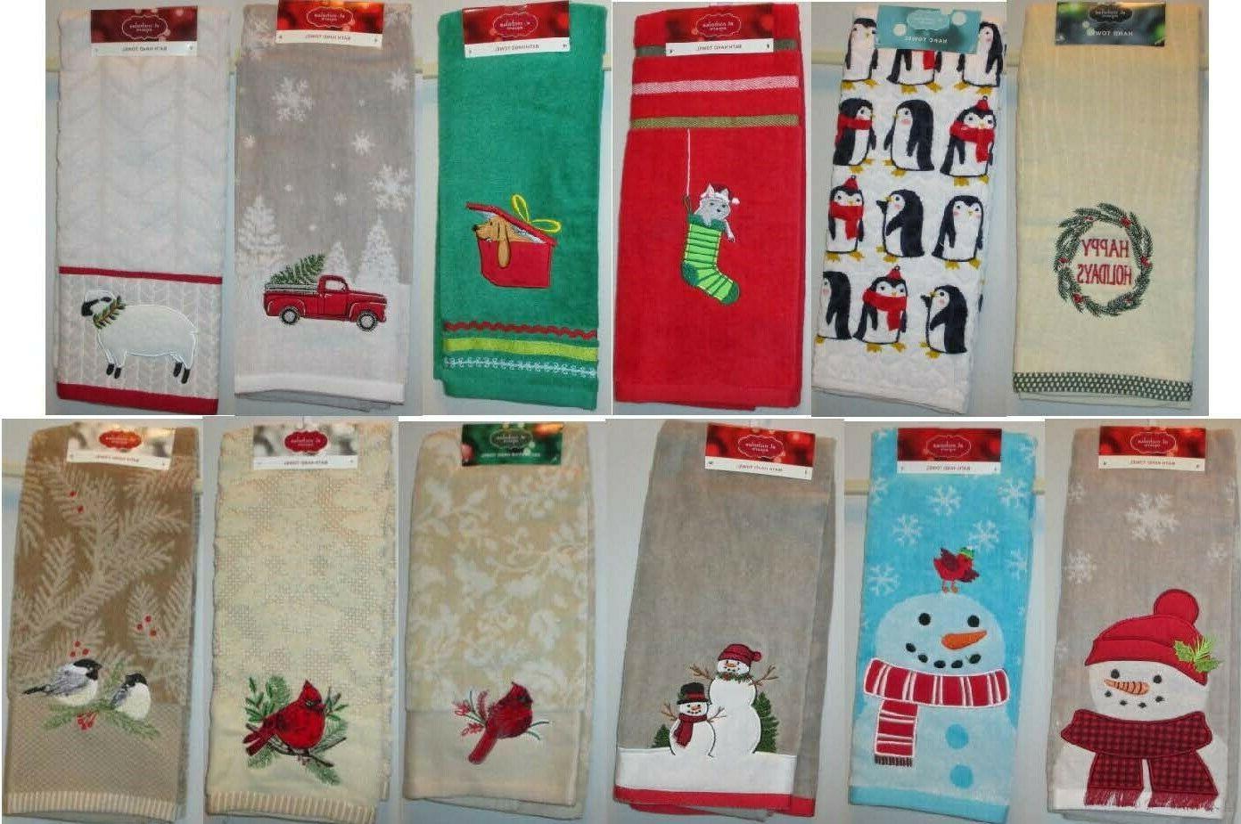 Decorative Hand Towels Holidays Beach Fall Winter NWT 76