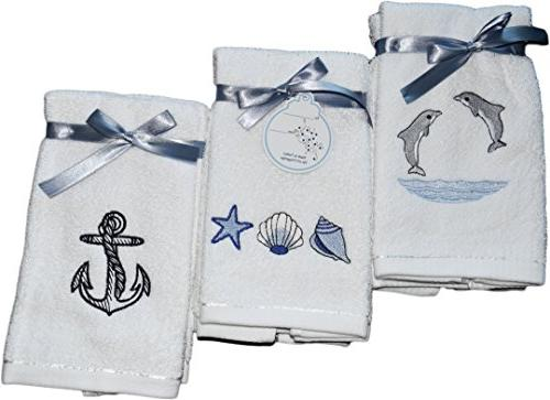 decorative luxury fingertip towel set