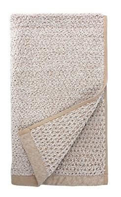 "Everplush Diamond Jacquard Hand Towel Set 16"" x 30"" Brown 4"
