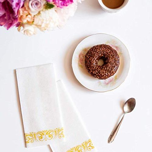 """17x12"""" Soft & Absorbent Towels With Gold 