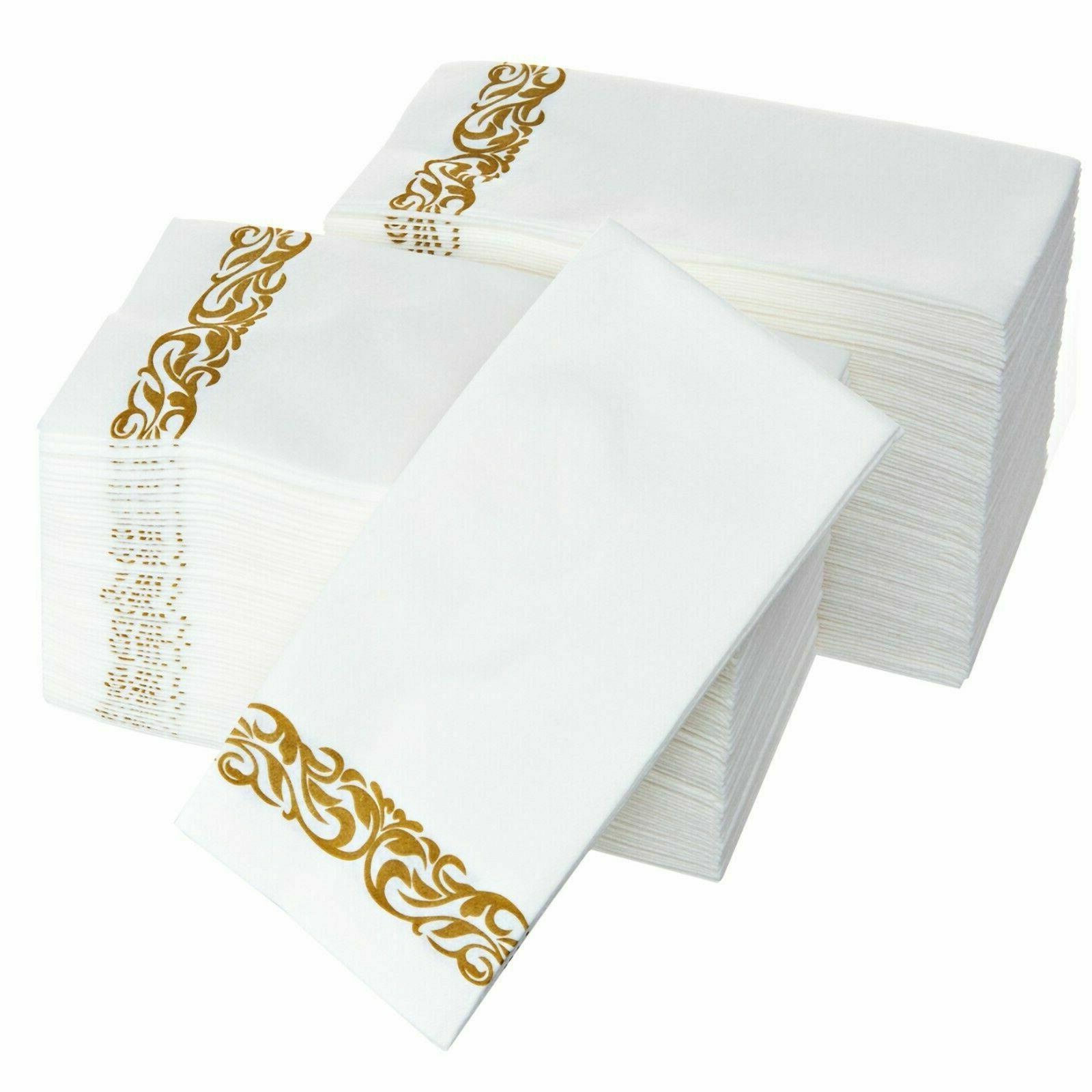 Disposable Hand and Absorbent Linen-Feel Guest Towels-