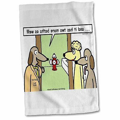 dog realtors hand towel