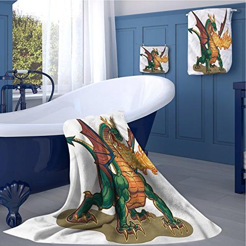 dragon popular towel set mythical