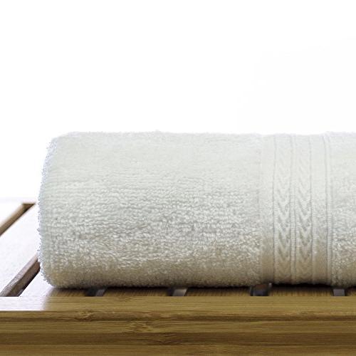 Eco Cotton - White - Dobby Border Set 6