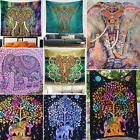 Elephant Hippie Mandala Tapestry Bedspread Beach Blanket Wal