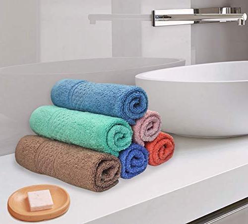 Cleanbear Face-Cloth Washcloths 6 Size13 Color