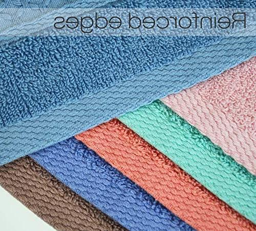 Cleanbear Face-Cloth Set,100% Cotton, 6 Color